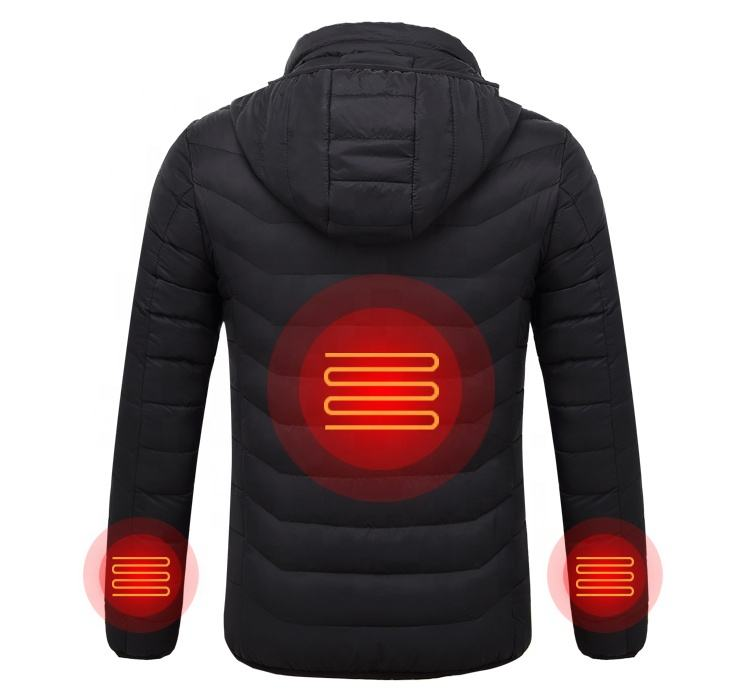 NO BATTERY Winter Outdoor ski USB Battery Smart Heated warm Jacket for men