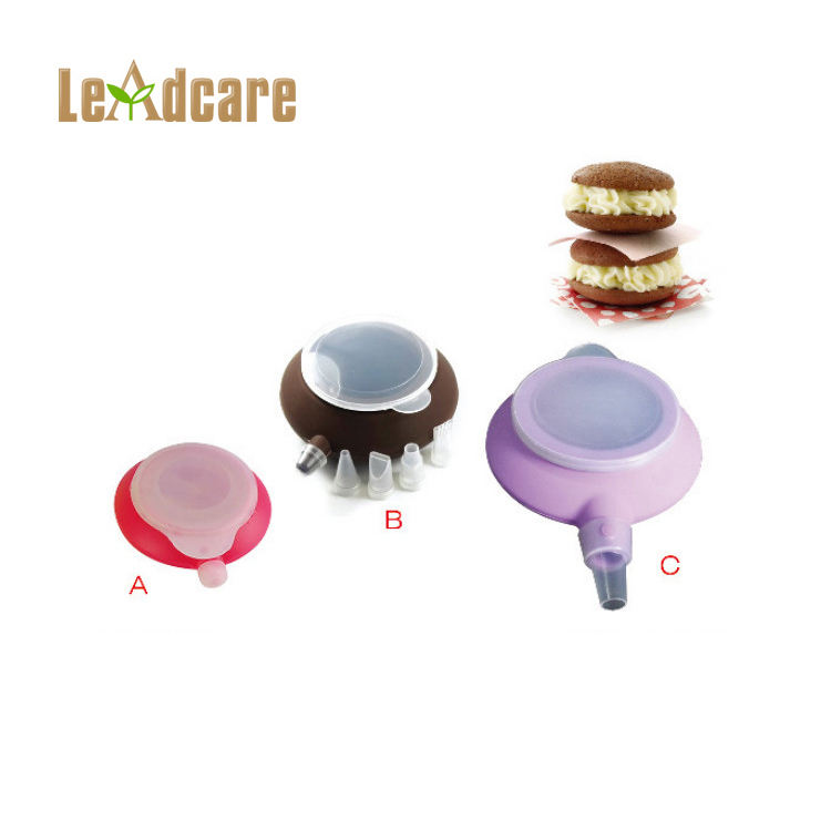 LD-E0036 Silicone Cake Decorating Squeeze Icing Bottle With Nozzles Tools ,Silicone Macaron Decorating Squeezer