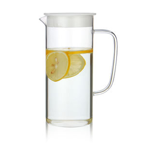 Heat resistance Big capacity glass water bottle home kitchenware juice glass jug Lotus water kettle