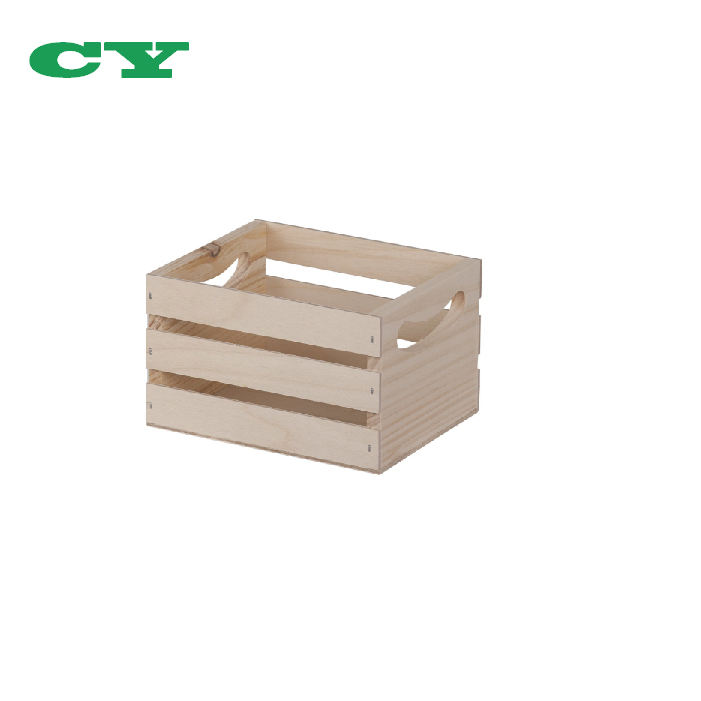 Mini Wooden Crate With Handles For DIY Painting and Decor