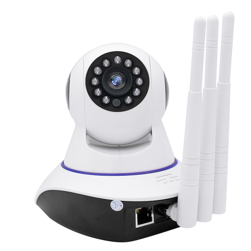 Seguridad cctv cámara inalámbrica antena tres de 1,3 mp hd inteligente wifi ip