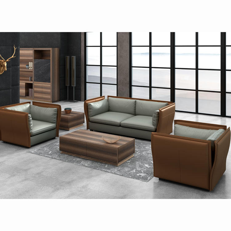 High end sofa customized factory leather living room sofa