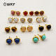 WT-E370 WKT New Arrival Unique Design Elegant Stud Earrings Round Shape Fancy Gemstone Stud Earrings