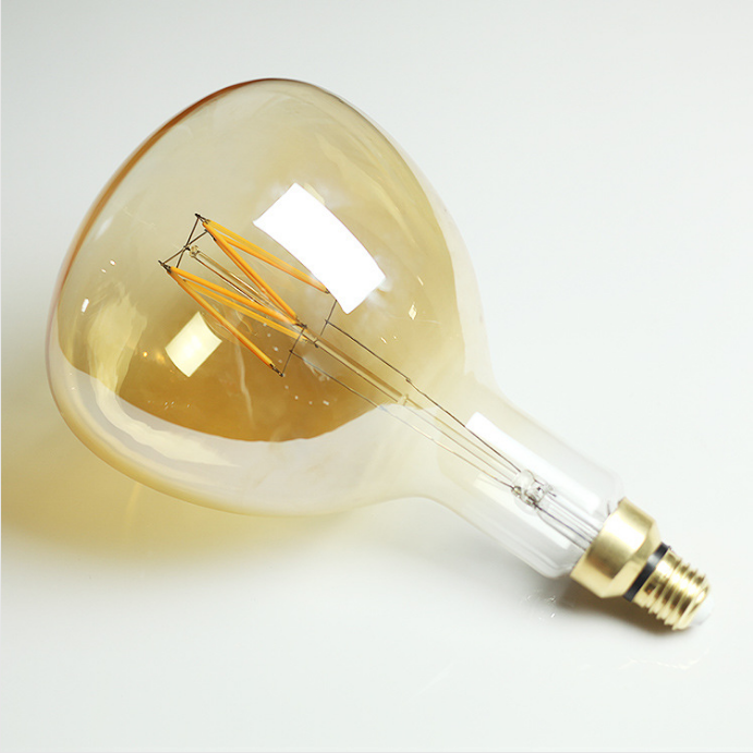 Bombilla vintage ER180 led 220 v 240 V 8 W especial grande regulable bombilla LED decorativa lámpara de filamento led