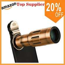 mini Mobile Phone Lens 20x zoom telephoto lens + 20x Macro Lens for Camera Lenses