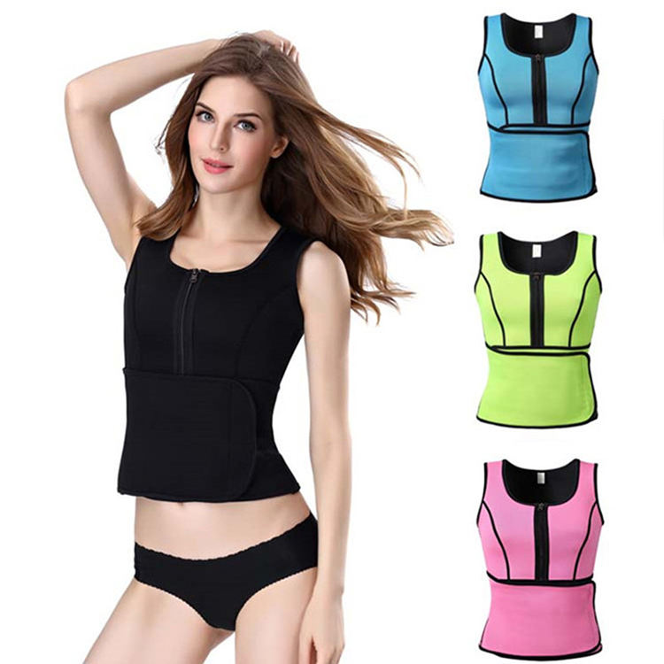 Perfect Figure Improve Fitness Slimming Breathable Neoprene Corset Shapers Zip Up Waist Trainer