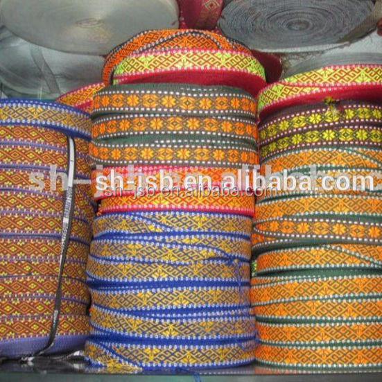Webbing tape jacquard band for garments accessories