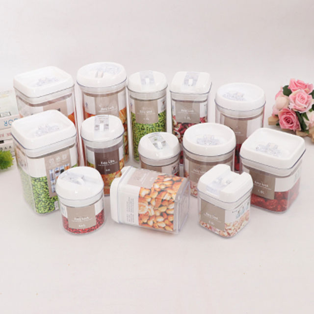 Food Storage Box Sets BPA Free Rectangle Plastic Food Storage Container Set Refrigerator Storage Bins Useful Box