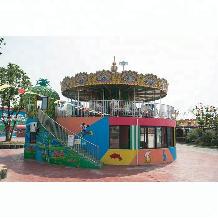 amusement park ride rotary horse carousel for sale