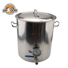 Stainless Steel 30l 40L Beer brewer Kettle Home Brewing Pot mash tun with Weldless Fittings DIY Kit