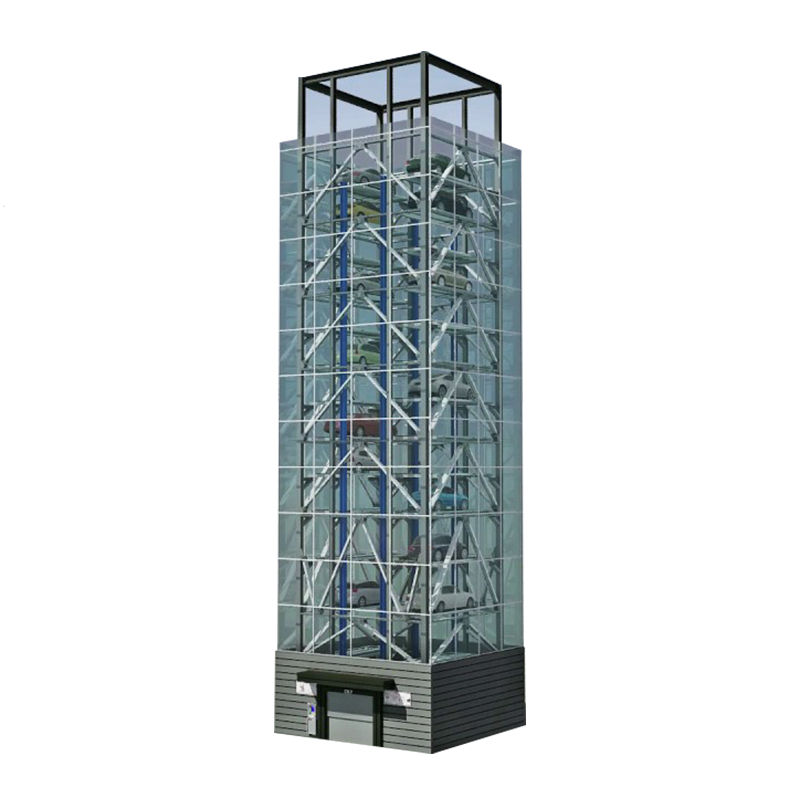 electric motorized tower structure parking garage system