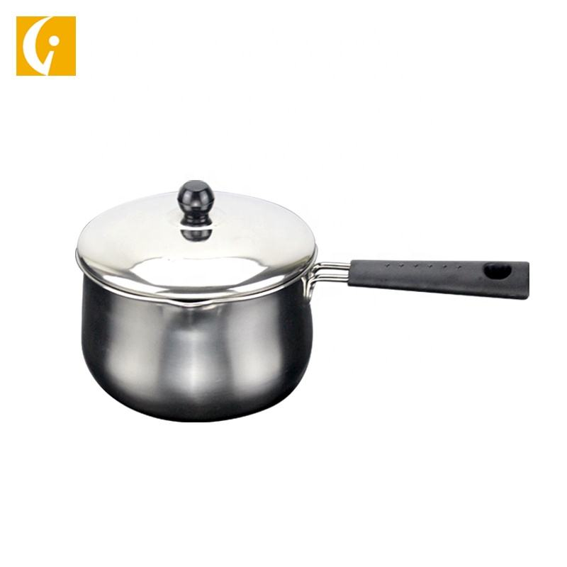Multifunctional Kitchen Appliance 3 Pcs Milk Pot Stainless Steel Saucepan Set
