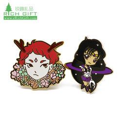 lapel pin Manufacturers China Cheap Custom soft enamel carnaval stainless steel pins karate badge soft enamel anime metal pins
