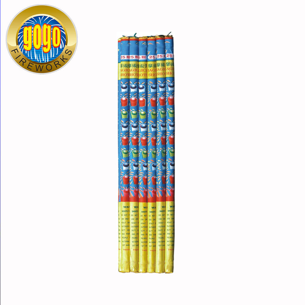 Popular fireworks T629 25S magical shots roman candles firework packing 36/12 high quality direct sell from professional factory