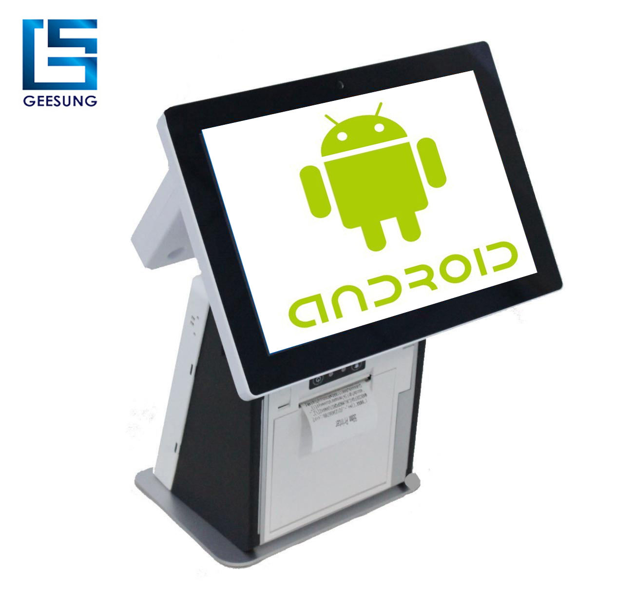 15.6 inch android pos apparaat pos hardware android pos terminal met thermische printer