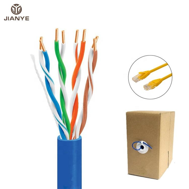 Alta calidad CAT5E/CAT6 4 pares rj45 Cable de fibra ethernet Cat5e/CAT6/CAT6/CAT6A/CAT7 UTP 1000ft