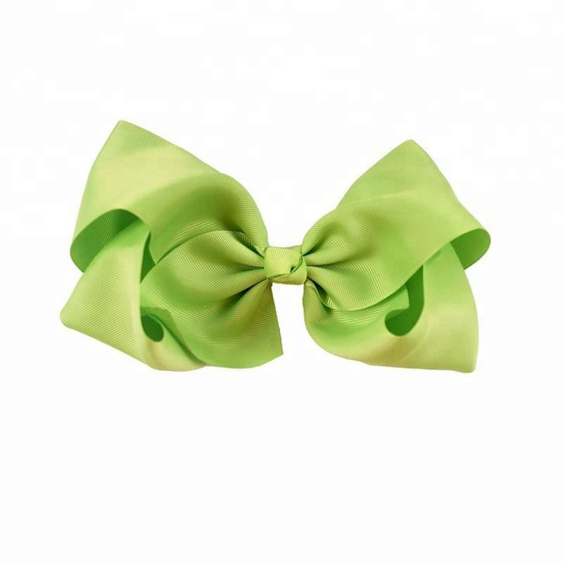 Handmade 8 inch large jojo hair bow with clips