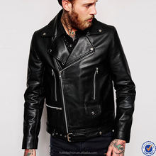 mens clothing 2016 faux leather biker jacket wholesale asymmetric zip fastening leather jacket
