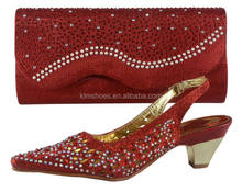 Top Selling Woman Shoes And Bag Set Fashion Factory Price African Shoes And Bag To Match For Evening Party 66011