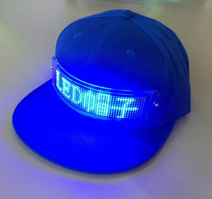 LED Display Screen Hat Lighted Glow Club Party Sports Athletic Travel Flashlight Baseball Golf Hip-hop Flash Cap
