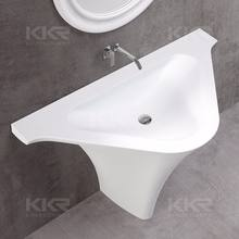 KKR-1595 Hot sale Artificial Stone Acrylic Solid Surface Pedestal Wash Basin