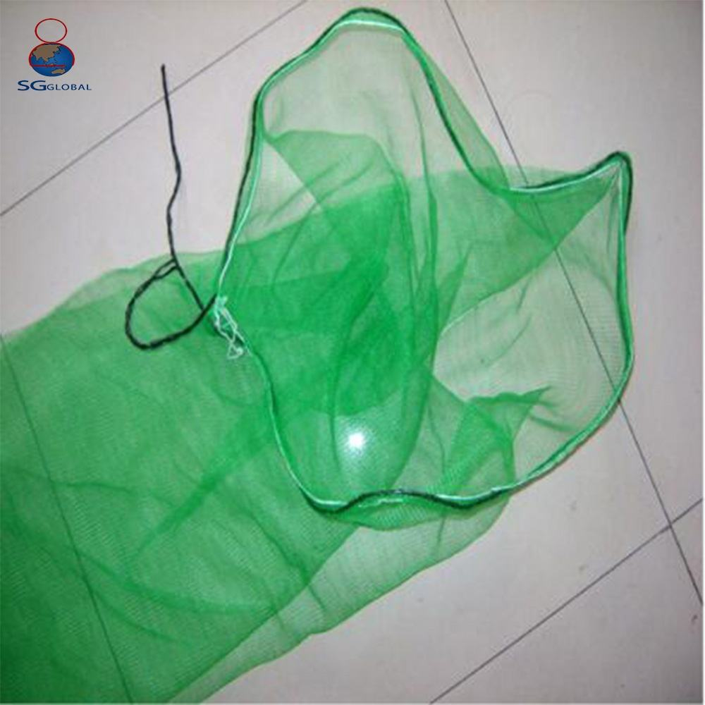 Alibaba china 80*100cm green dates palm fruit packaging hdpe monofilament mesh bag