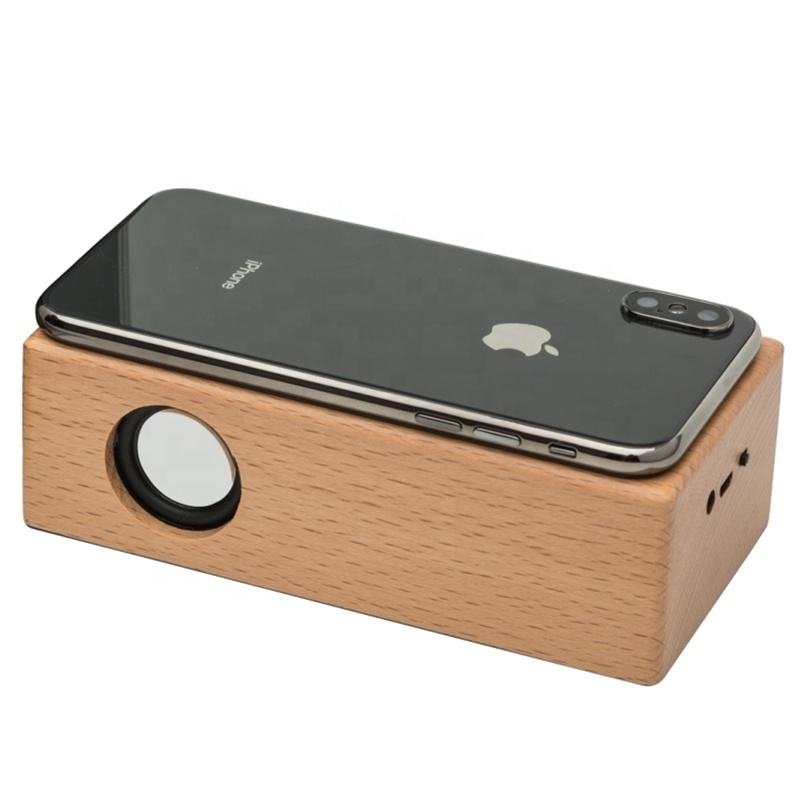 Mini Portable Wood Mini Magic Portable Wireless Boombox Resonance Touch Speaker For Phone