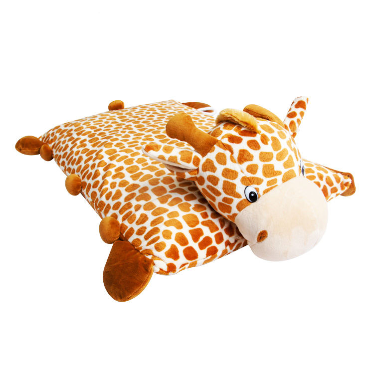 Giraffe pillow custom animal shaped pillow 2 in 1 pillow cushion for baby