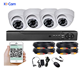 4CH 8CH IR CCTV System Kit 1080P Recording DVR AHD DOME Cameras Day&Night Color CMOS Cameras with Waterproof IP66