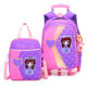 Children 6 wheels detachable trolley school bags high quality cartoon kids student backpack handbag set