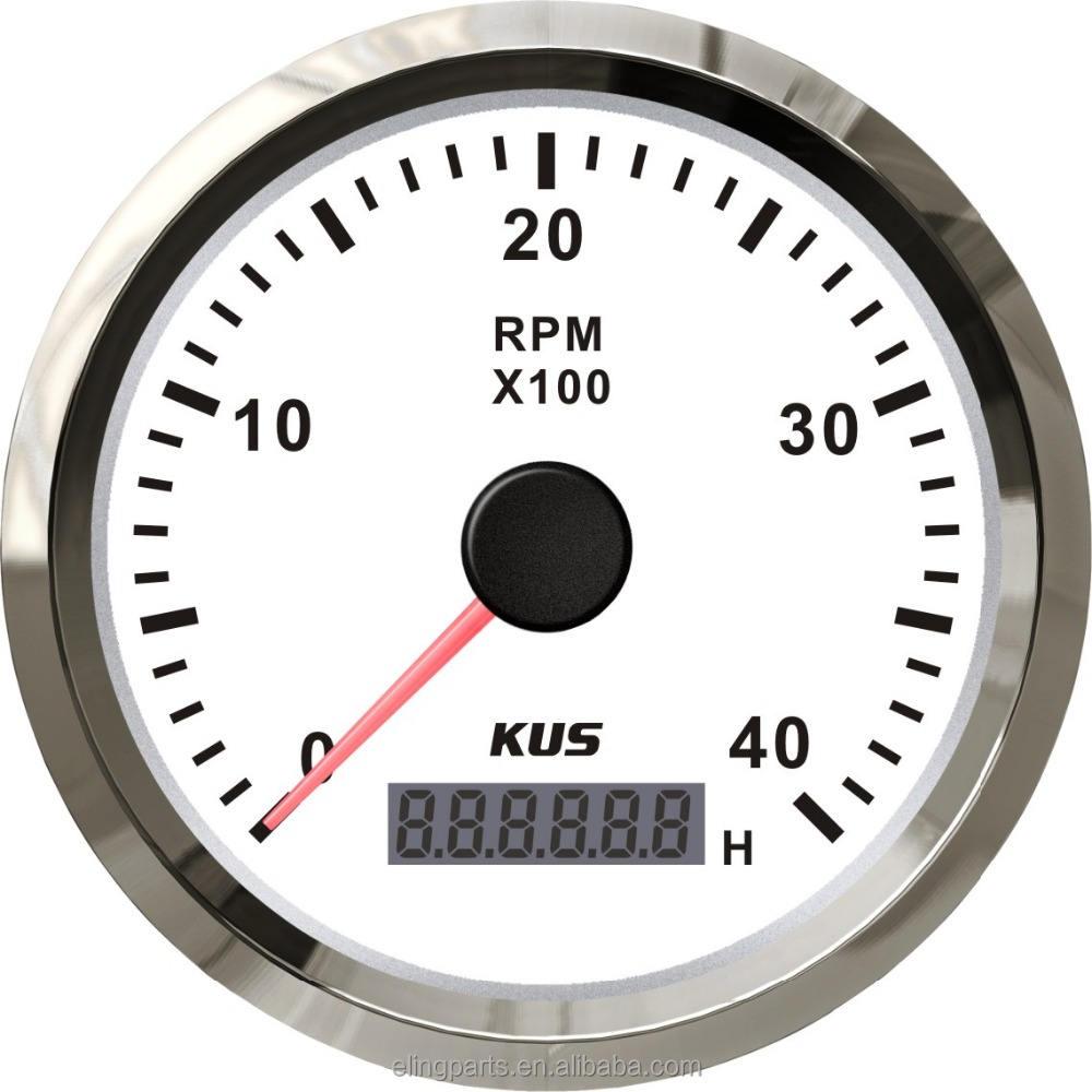 """KUS 3 3/8 """"Marins <span class=keywords><strong>RPM</strong></span> Jauge Compteur Tachymètre COMPTE-TOURS Avec Compteur Horaire 4000 <span class=keywords><strong>RPM</strong></span> 12 V/24 V Avec <span class=keywords><strong>R</strong></span>étro-Éclairage"""