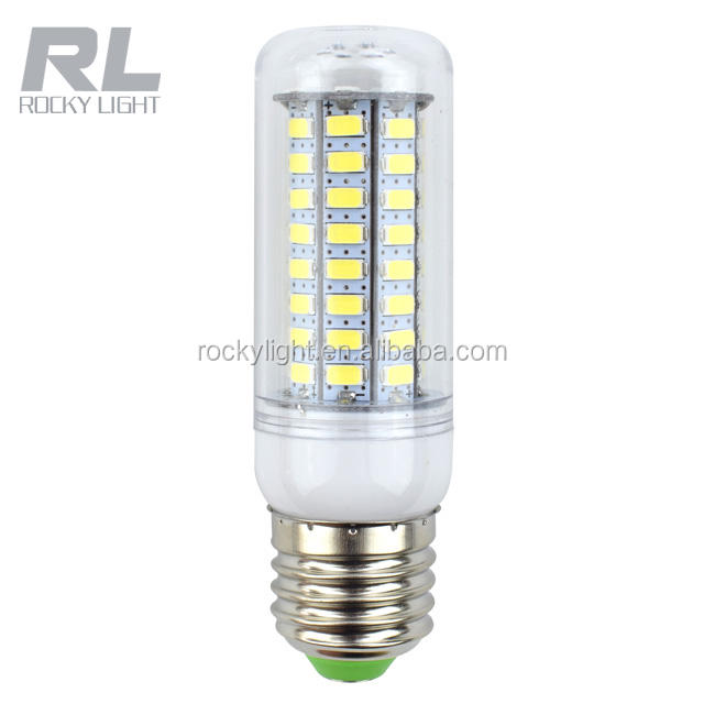 5W 480lm 5730smd led corn bulb with cover