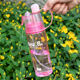 400ml portable outdoor sport water mist spray sip water bottle