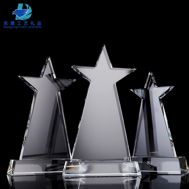 Souvenir Custom Kristallen Trofee Star Tower Met Base