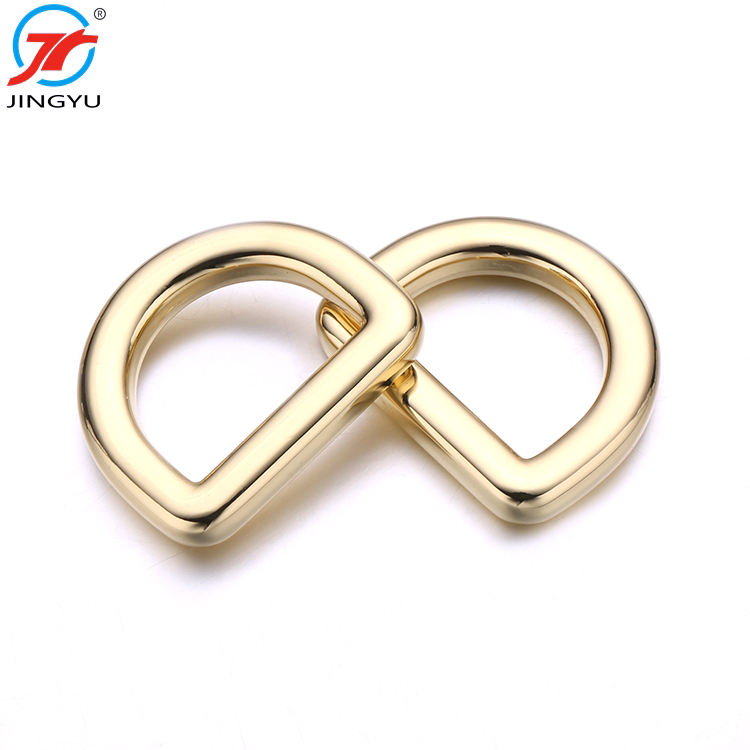 High Quality Existing Mold Fashion Gold Handbag Metal D Ring Buckle For Bag Accessories