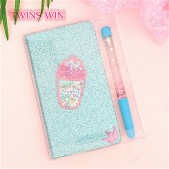2019 Kawaii Schoolbenodigdheden Kleine Moq Briefpapier Gift Set Glitter Ijs Notebook Pen Set 147