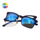 Hot sale fashion double lenses men glasses frames optical magnet reading myopia glasses