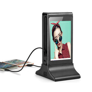 Wifi digital advertising display restaurant cell phone charging station with 7 inch lcd