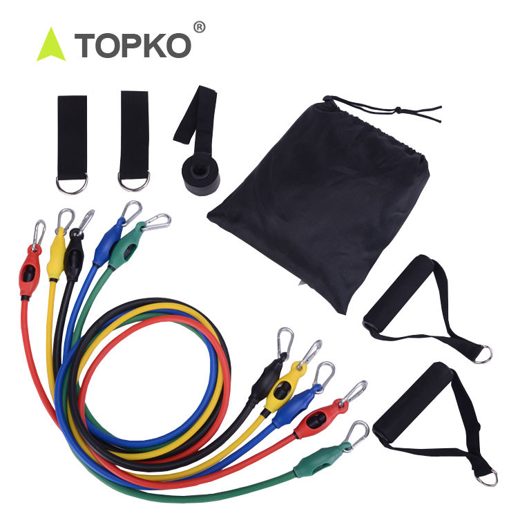 TOPKO New Product Fitness strength exercise training latex resistance tube