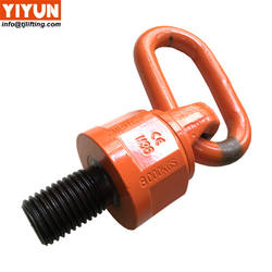 High Tensile Steel Alloy G80 universal swivel hoist ring WLL13T size M48