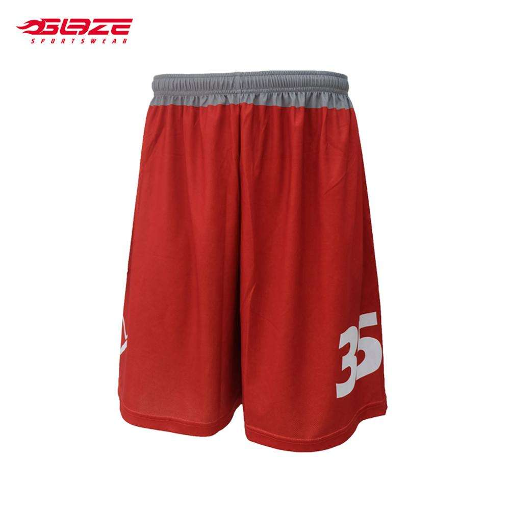 Cheap mens red breathable basketball shorts