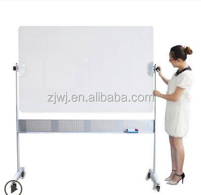 Office supplier 120*120cm Folding dual sides whiteboard with wheels