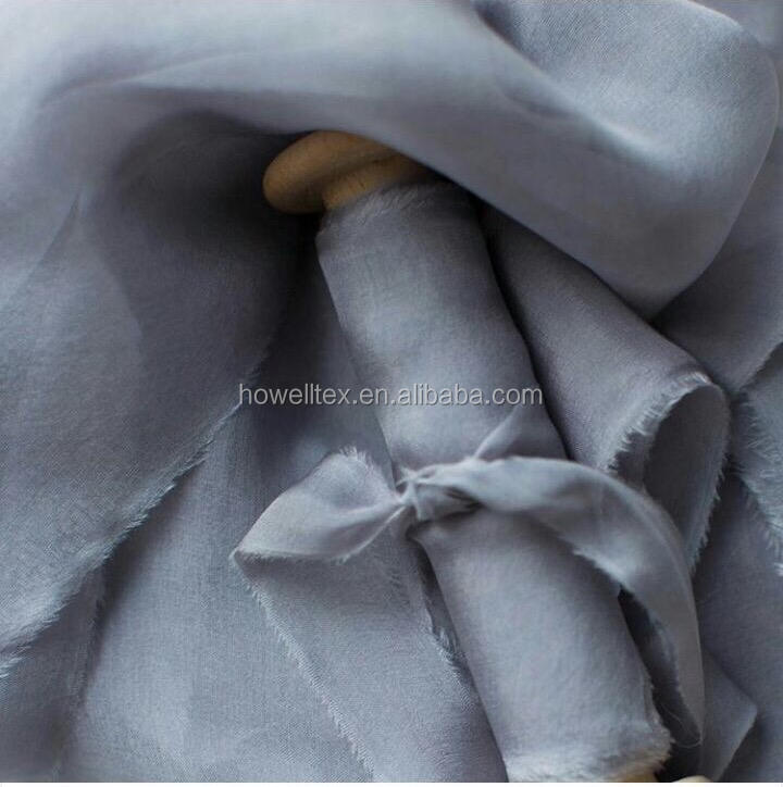 Pure color 100% Silk chiffon ribbon 1'' For painters for wedding