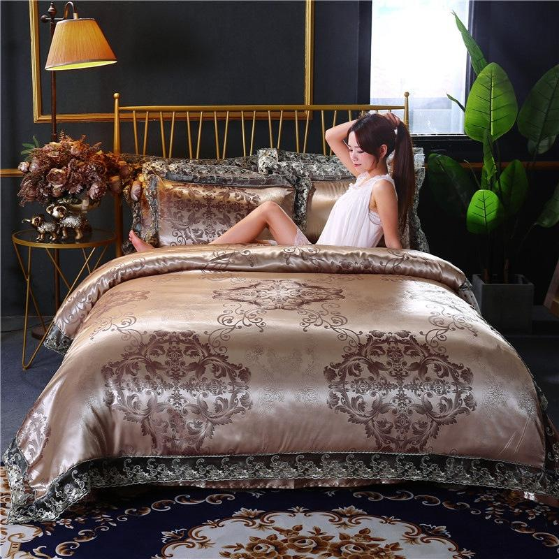 Coverlet four - piece bed, bedding comforter sets luxury, manufacturers wholesale sales silk cotton towelling coverlet