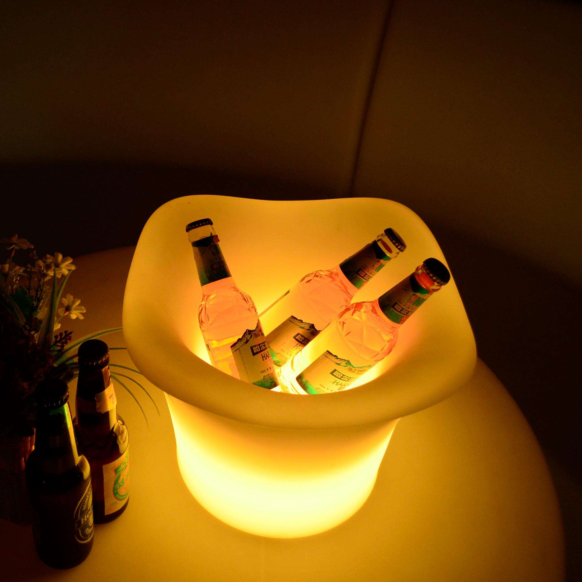 Night Club LED Ice Bucket For Red Wine With Remote Control