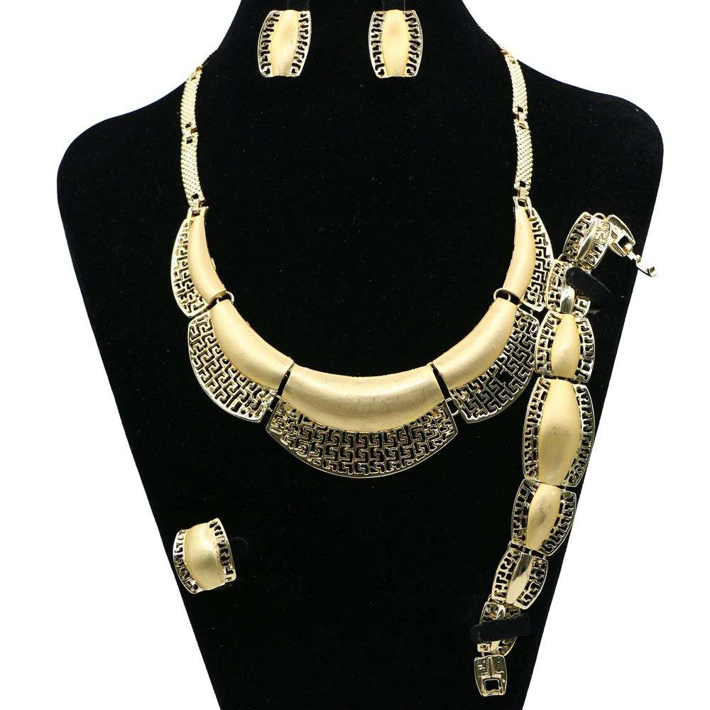 싼 아프리카 보석 necklace bracelet elegant 금 jewelry set women JH25Y208-JH25Y213