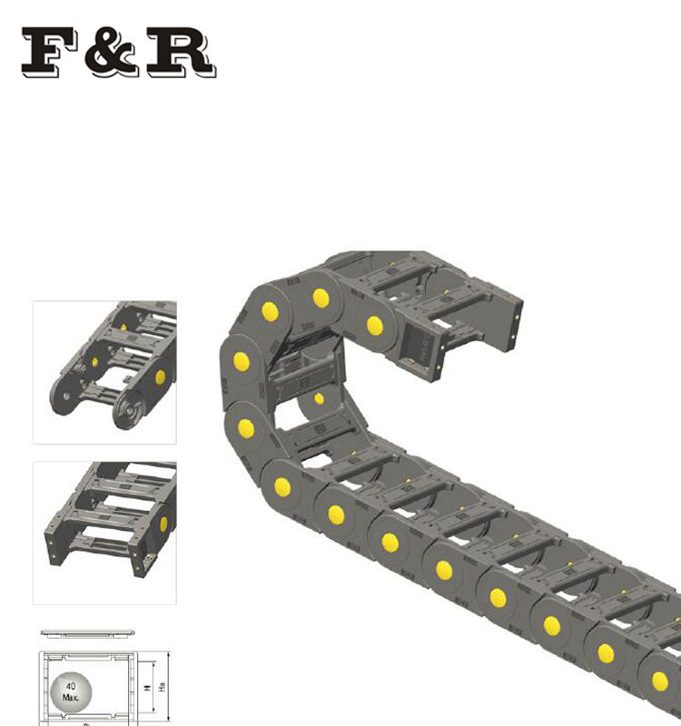 18 series semi-sealing opening type Plastic drag chains