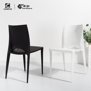 Stackable pp plastic resin bistro chair white outdoor