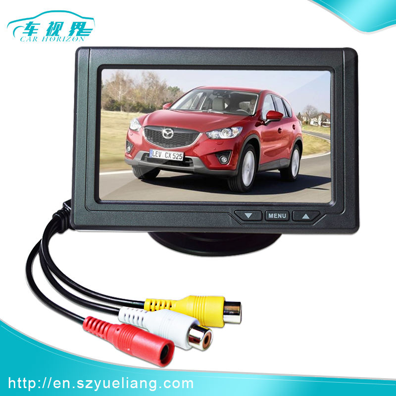 "4.3"" Inch TFT LCD Car Parking Monitor Video Player For Rear View Camera With 2 Video input"
