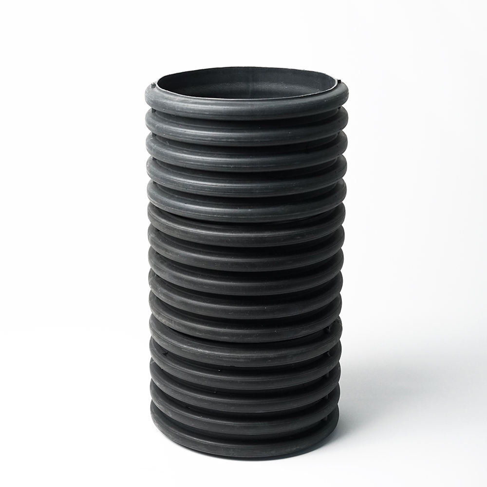 ISO twin wall corrugated hdpe pipes and fitting for drain and sewer